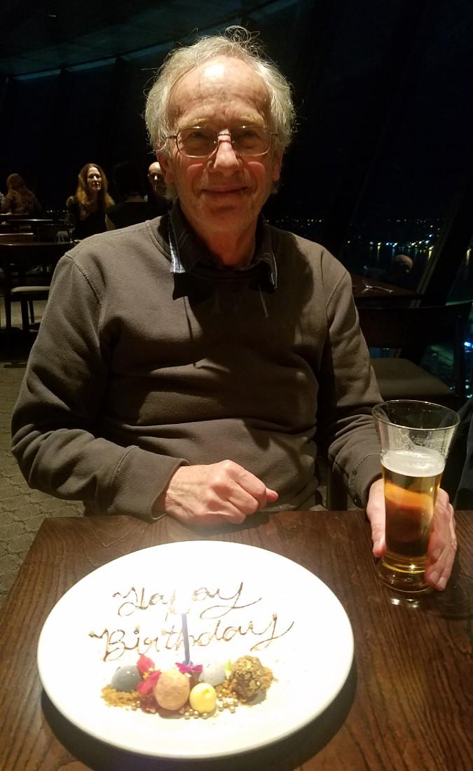 Birthday dinner at Orbit Restaurant in Auckland