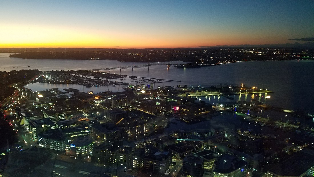 View from Sky Tower in Auckland