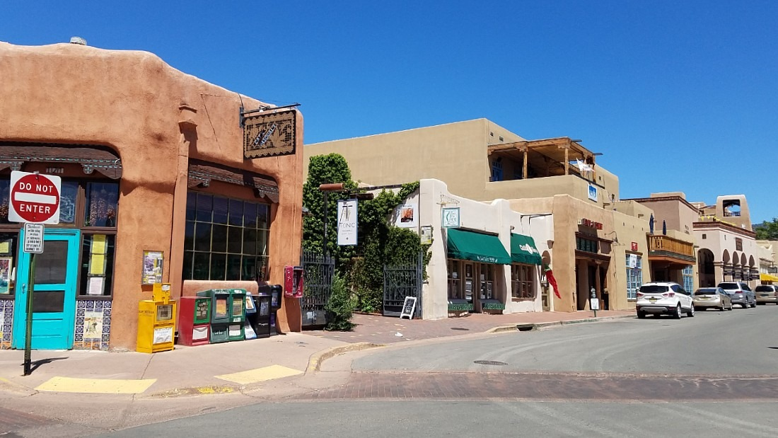 Downtown Santa Fe in New Mexico