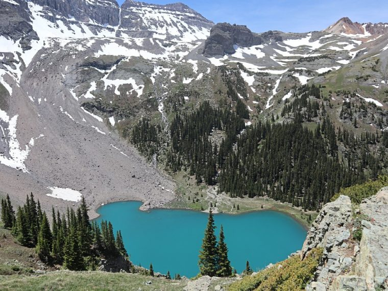 Hike the Blue Lakes trail near Ouray, Colorado
