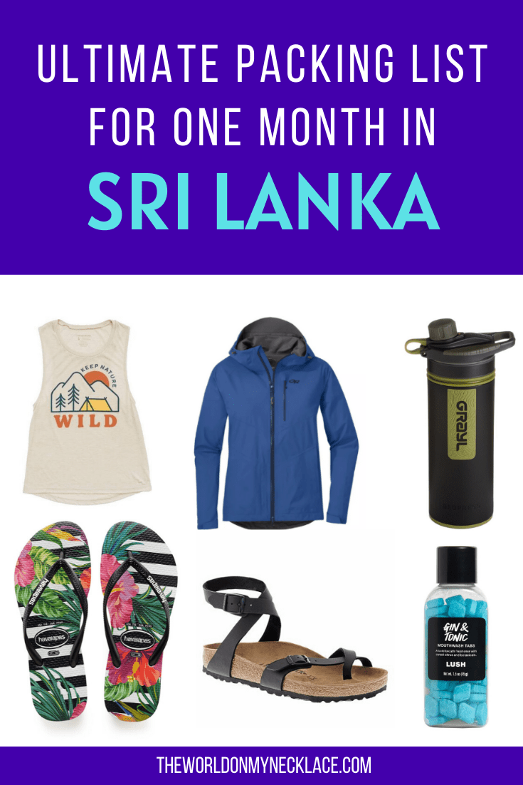 Ultimate Packing List for Sri Lanka