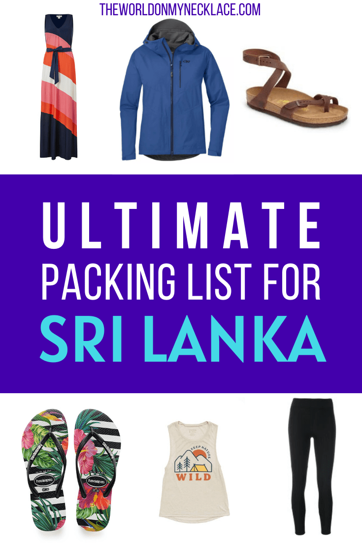 Ultimate Sri Lanka Packing List