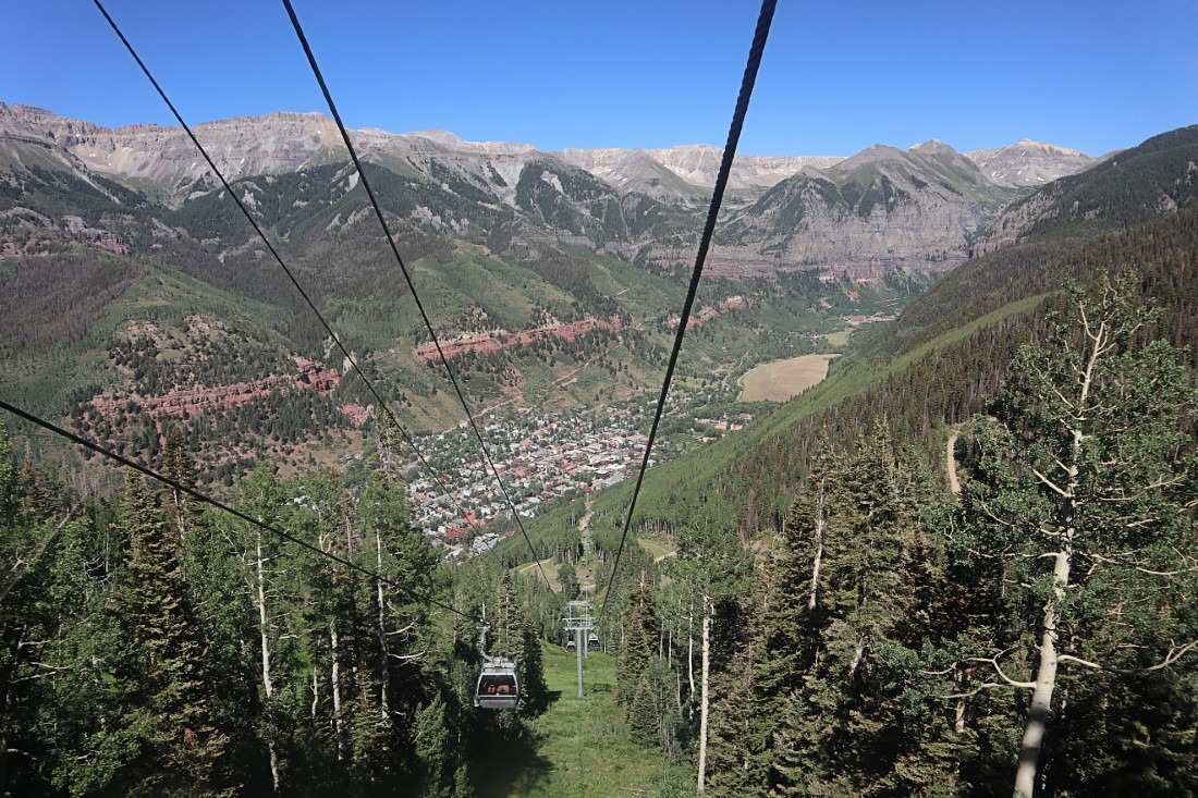 View from Telluride Gondola to Mountain Village