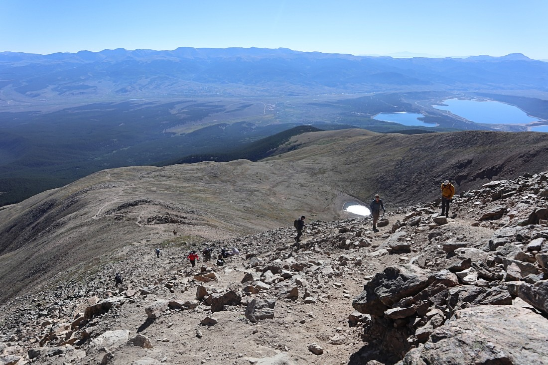 Hiking Mount Elbert in Colorado