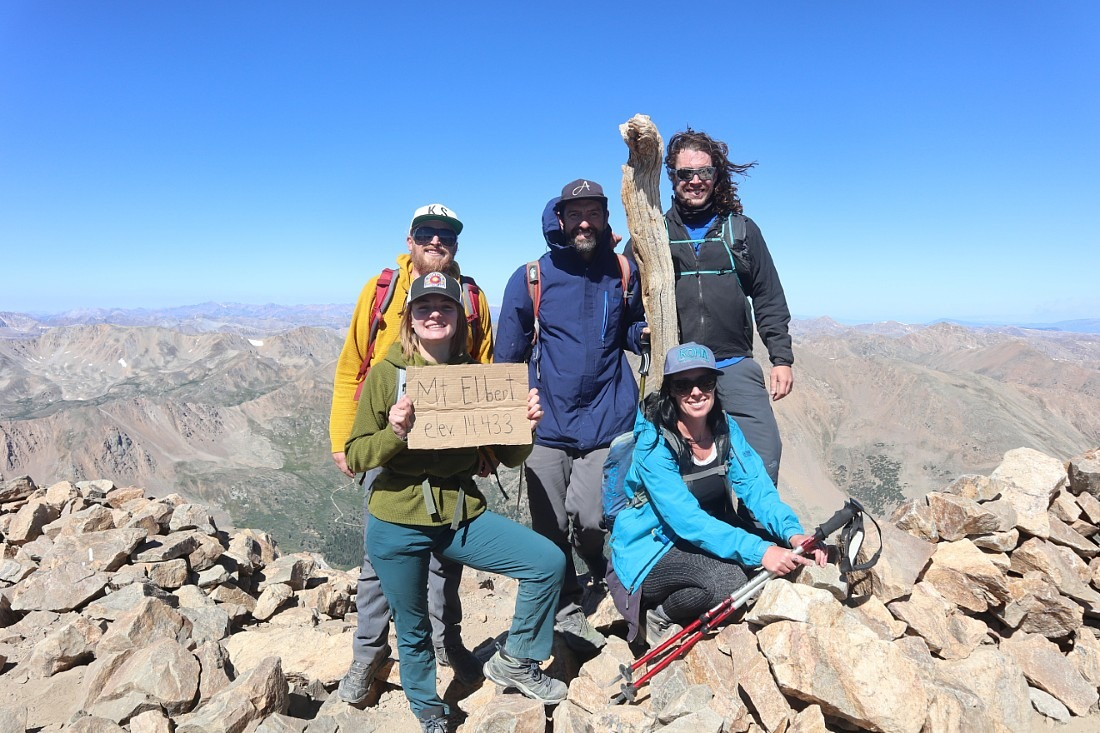 Summit of Mount Elbert in Colorado