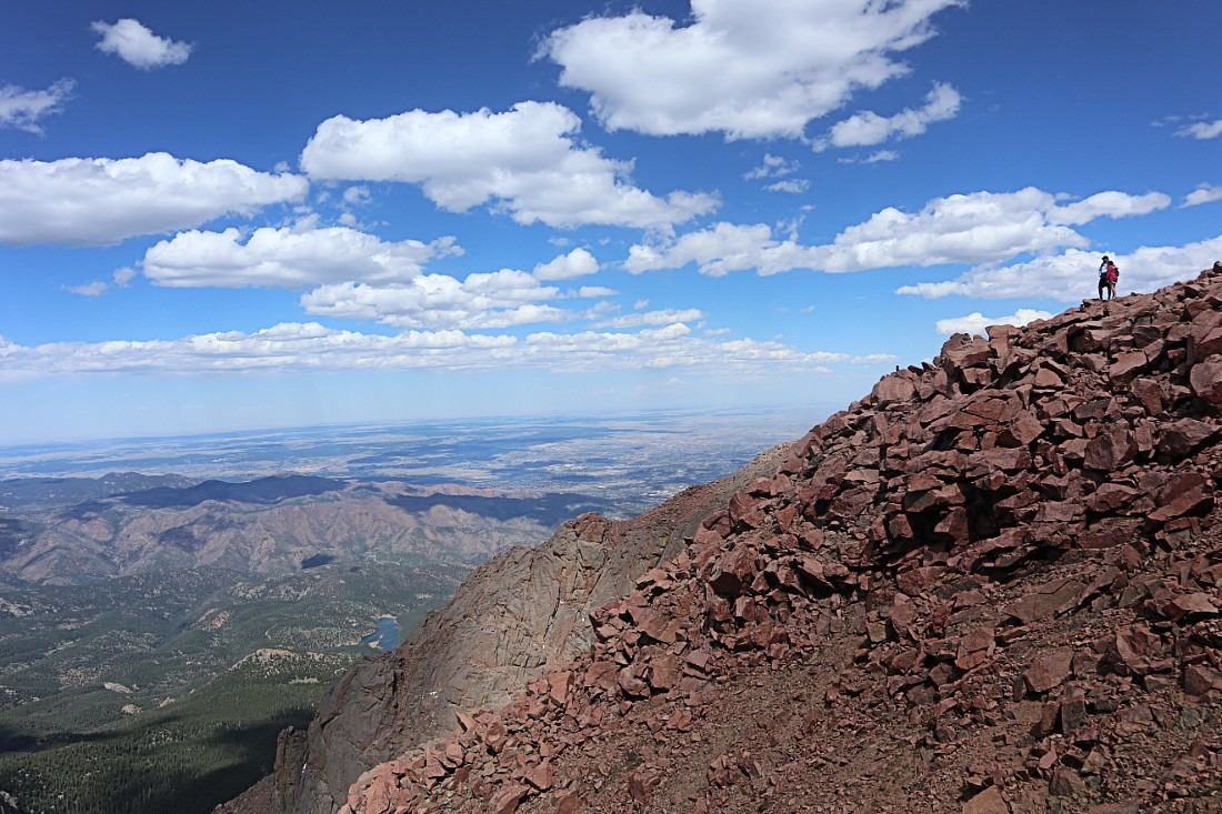 Top of Pike's Peak in Colorado