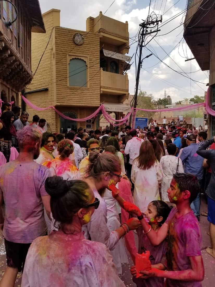 Everyone on the streets for Holi in Jodhpur