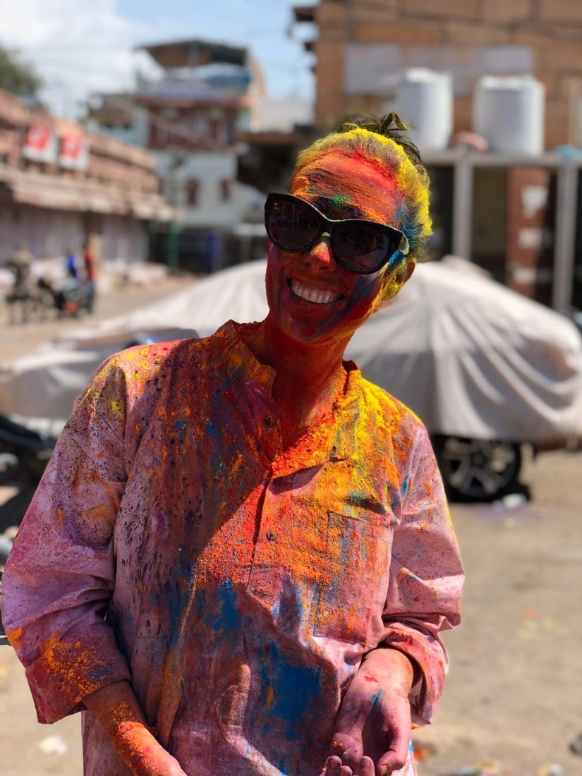 Getting colorful at Jodhpur Holi