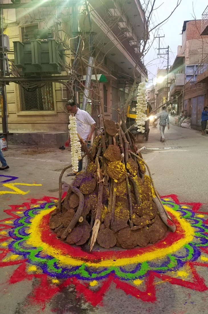 Holi in Jodhpur bonfire