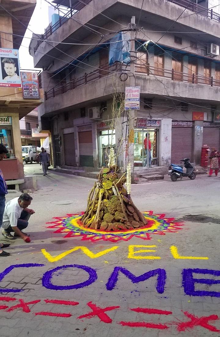 Jodhpur Holi bonfire prep