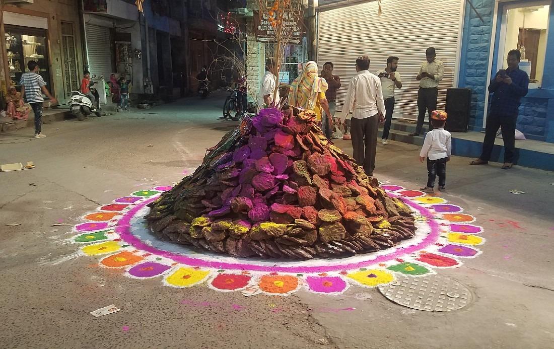 Jodhpur Holi bonfire