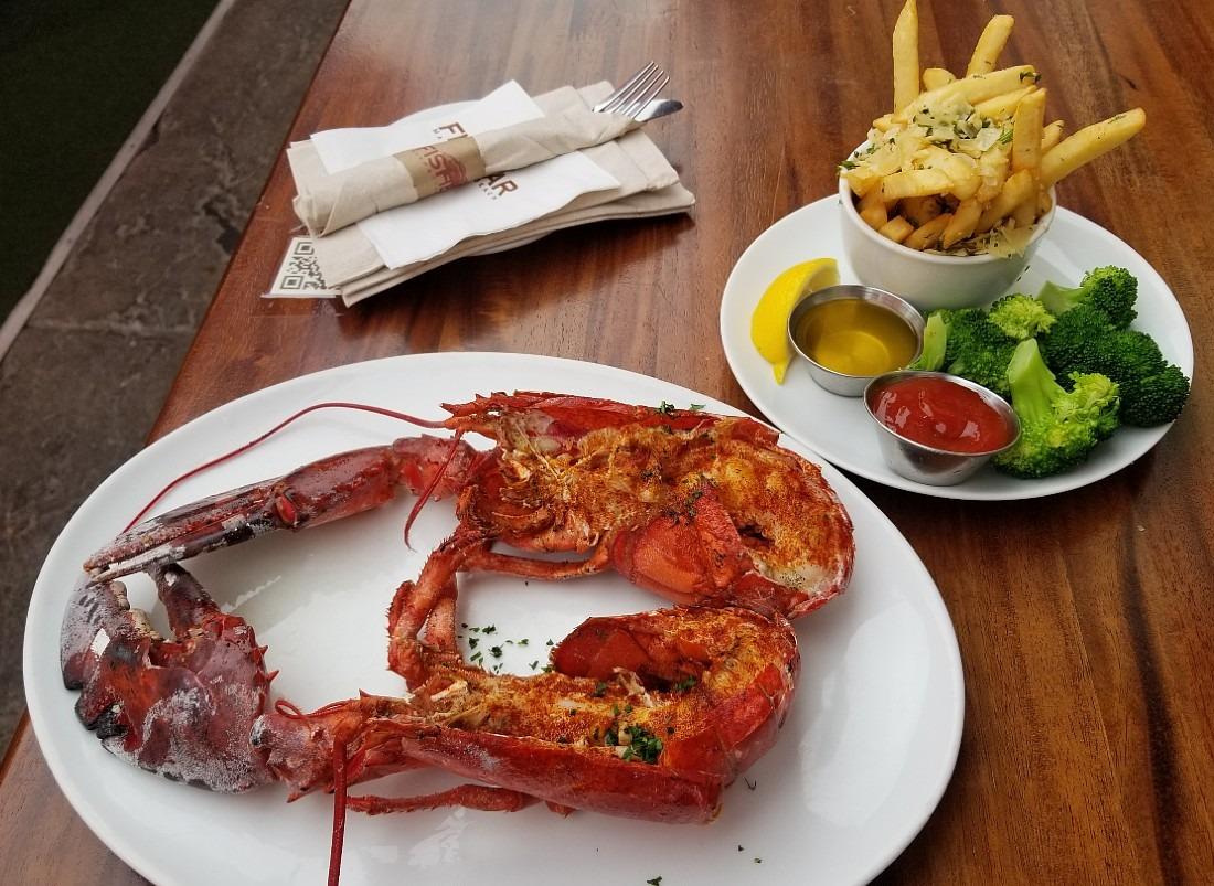 Lobster from Fish Bar in Manhattan Beach