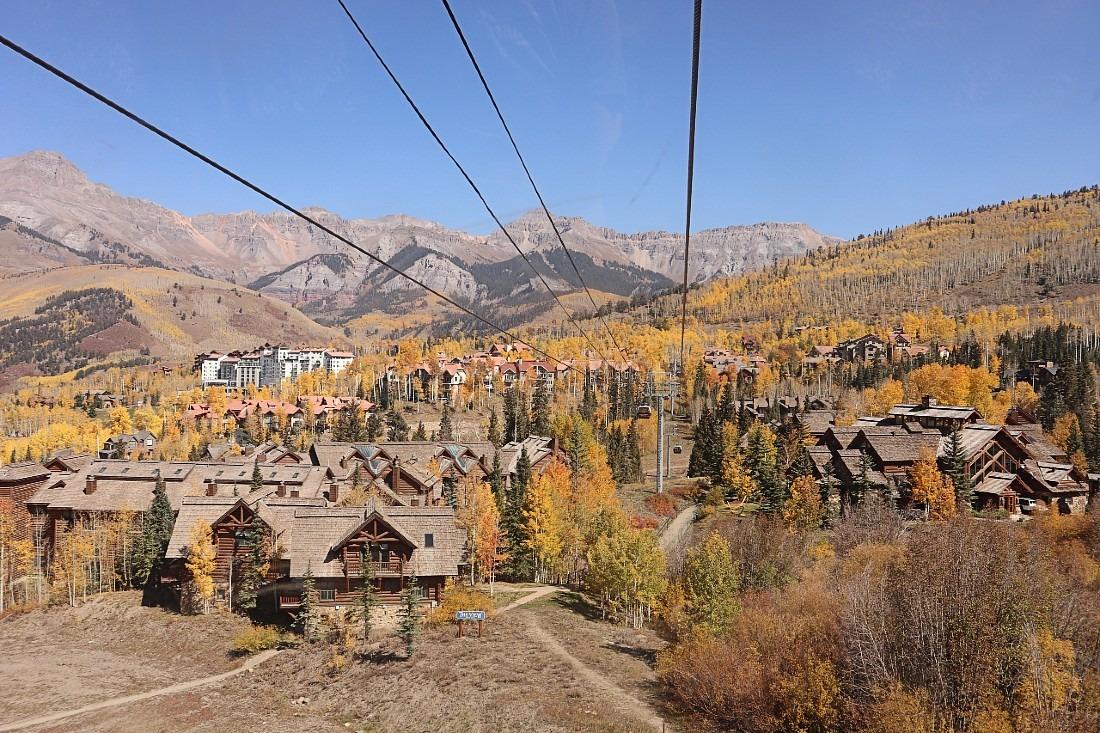 Mountain Village Ski Resort in fall