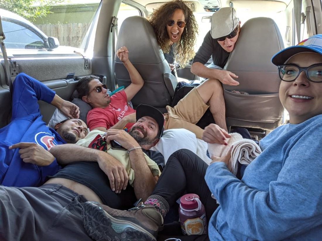 Outlaw Party in the van