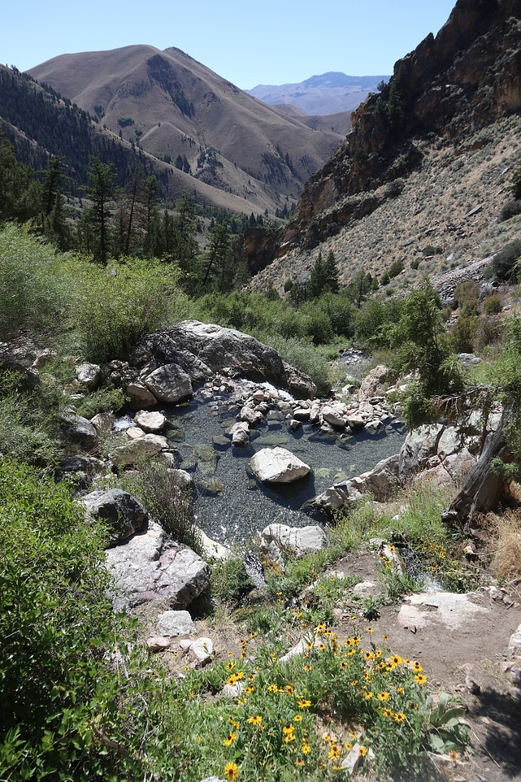 Beautiful Goldbug Hot Springs is one of the best natural hot springs in Idaho