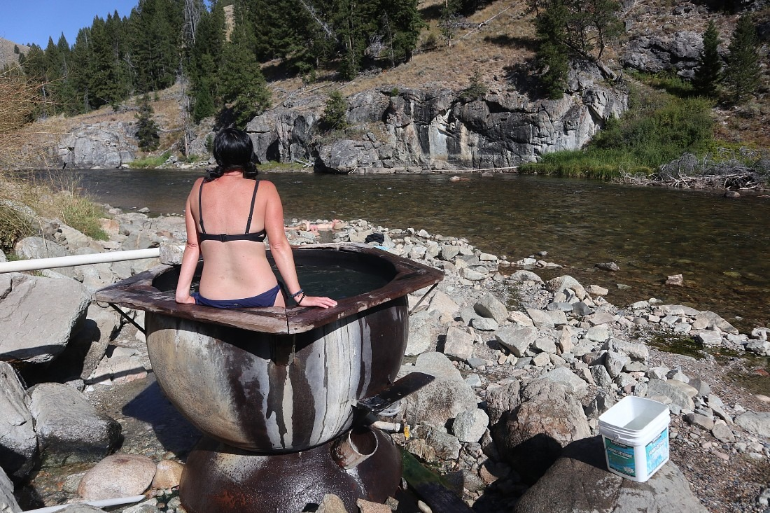 Boat Box Hot Springs is one of the best Idaho hot springs