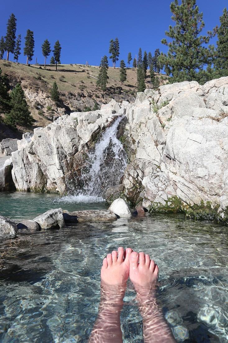 Kirkham Hot Springs is one of the best Idaho hot springs