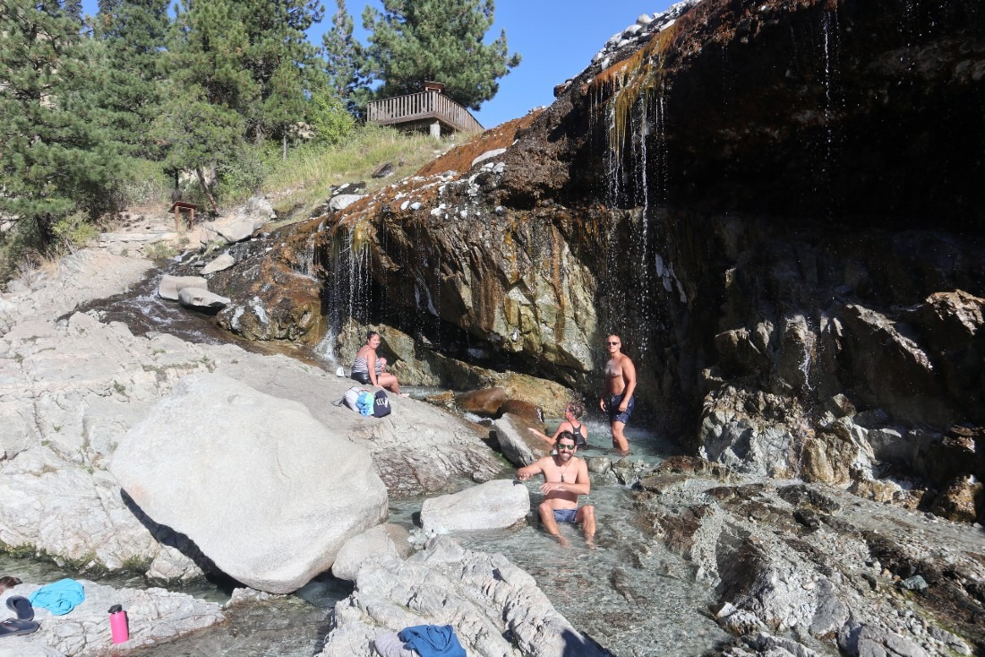 Kirkham Hot Springs is one of the best natural hot springs in Idaho