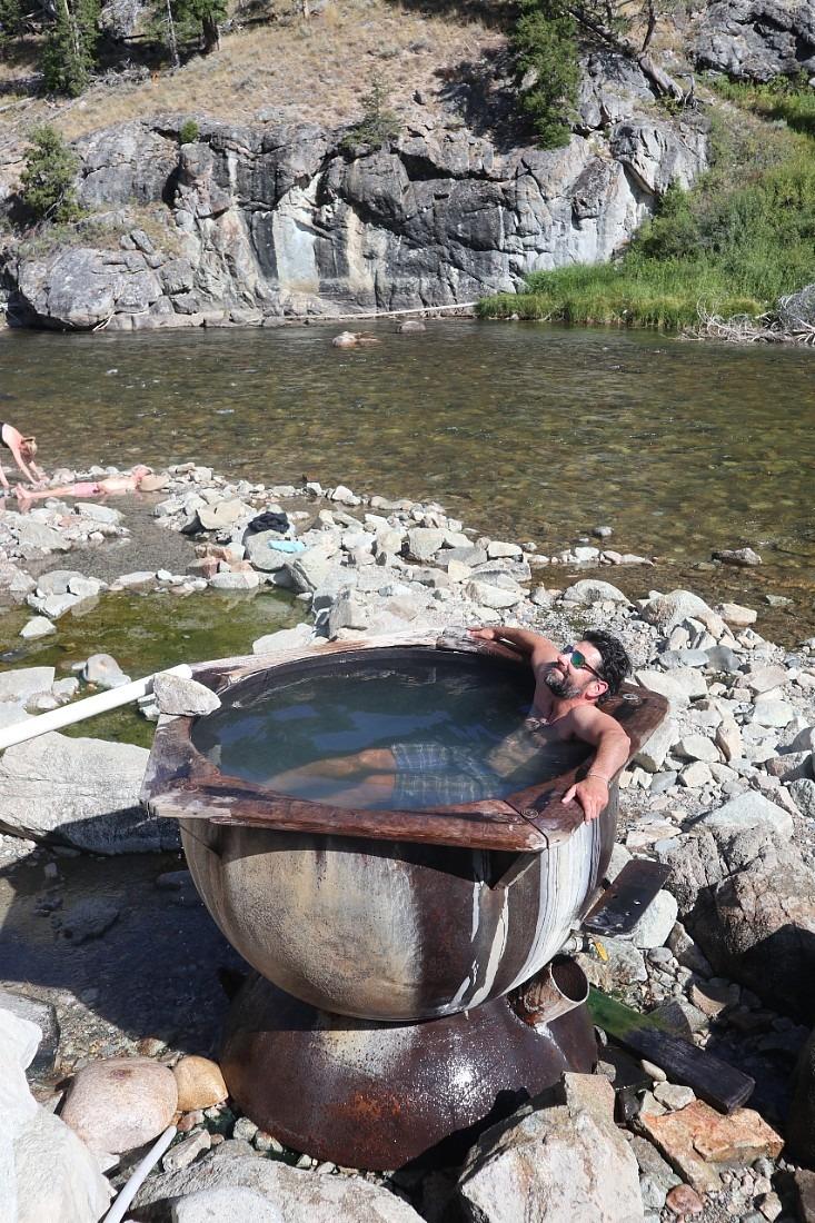Soaking in Boat Box Hot Springs
