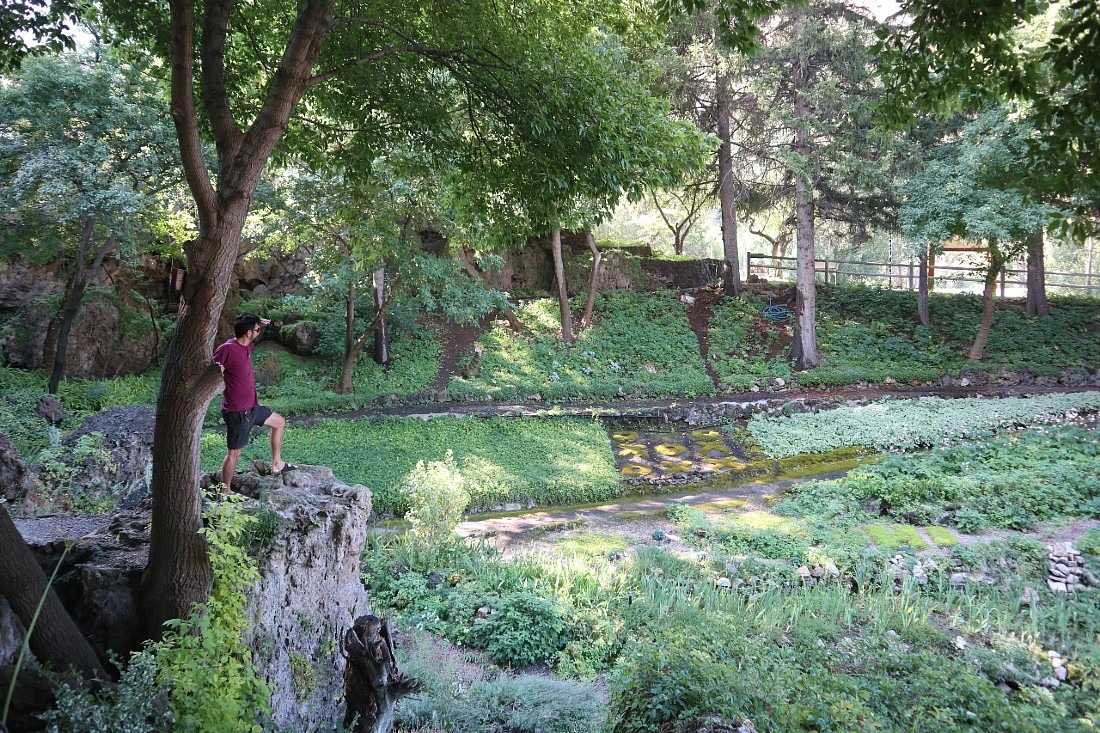 Sunken Gardens in Lava Hot Springs