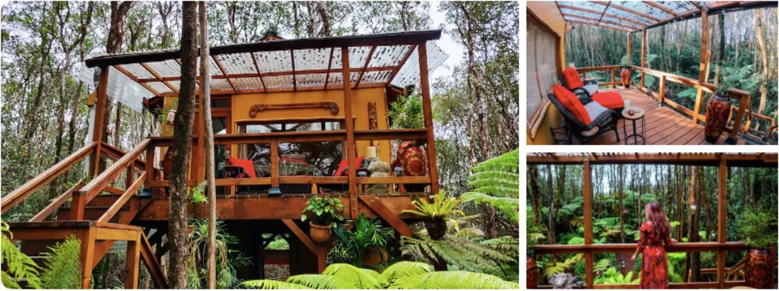The Peaceful Rainforest Tree house is one of my picks of the best Hawaii tree houses