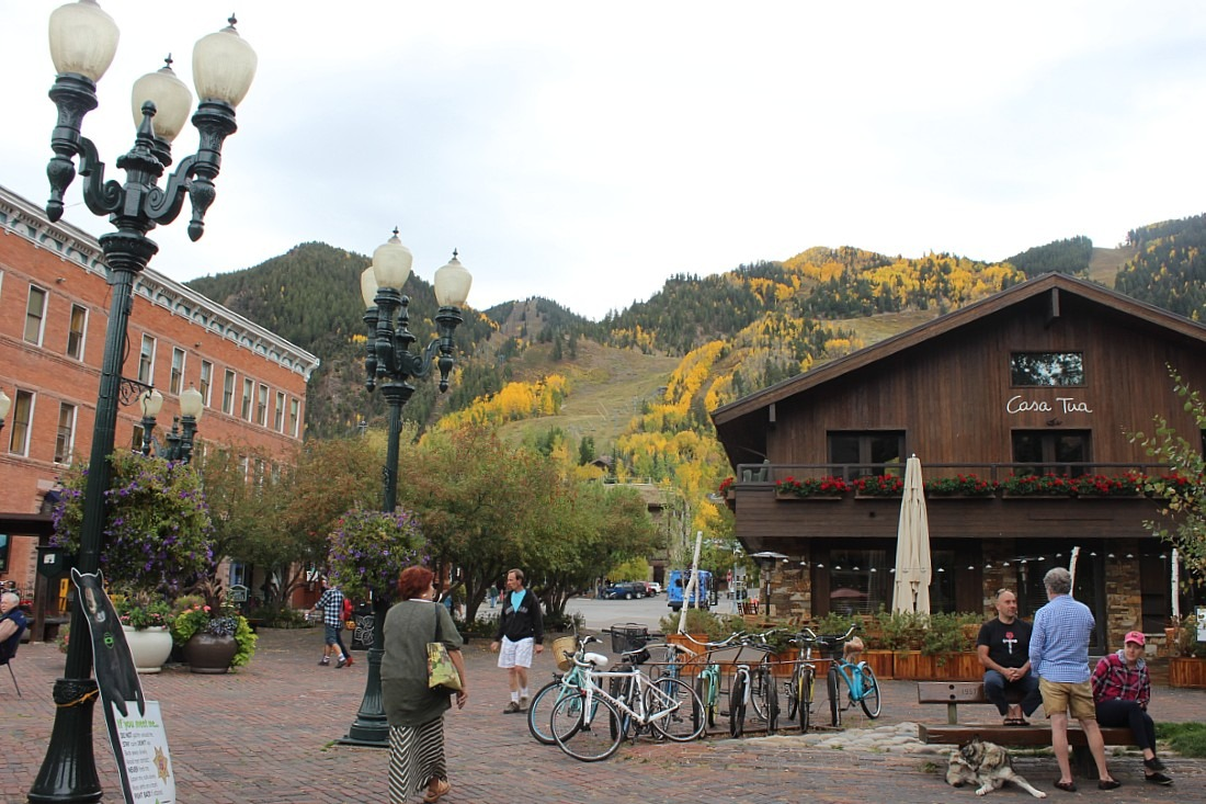 Aspen in fall, one of the best Colorado Mountain Towns