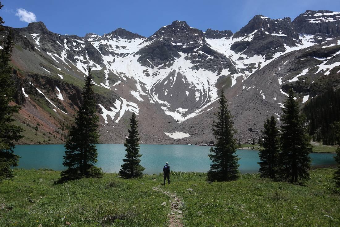 Blue Lake near Ouray, CO