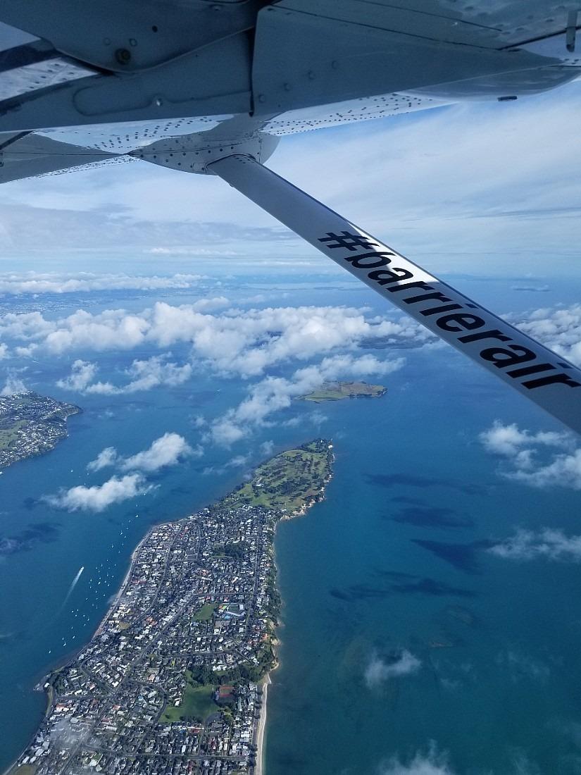 Flight to Great Barrier Island