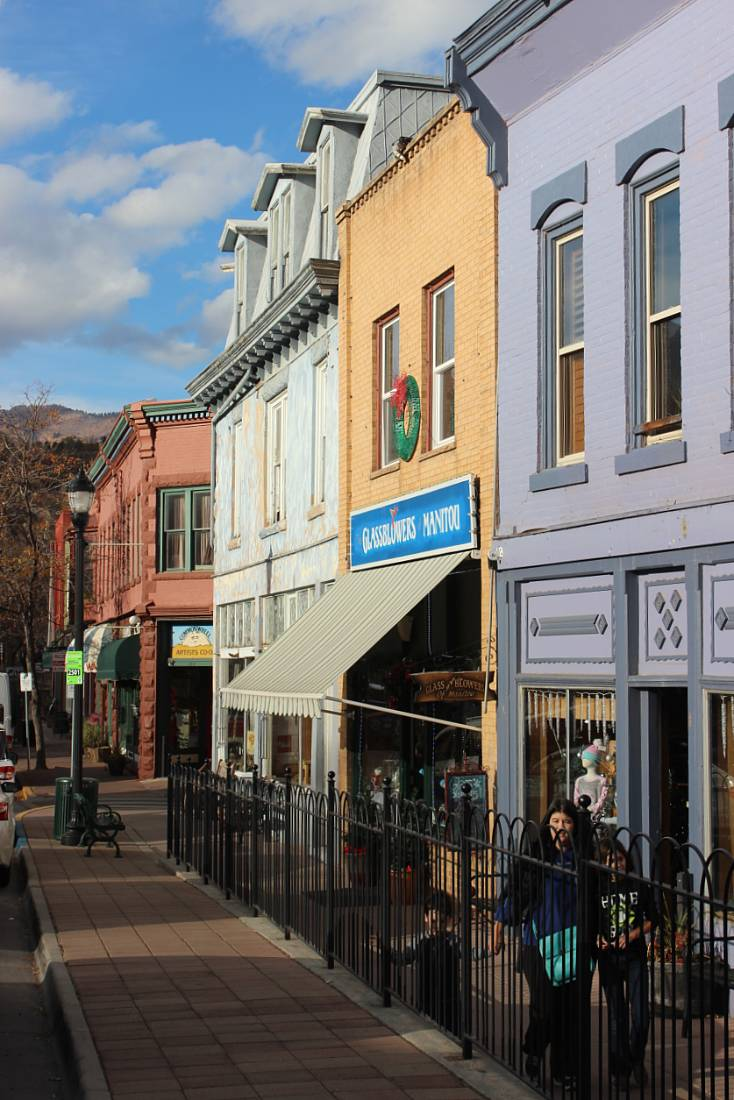 Downtown Manitou Springs, one of the best mountain towns in Colorado