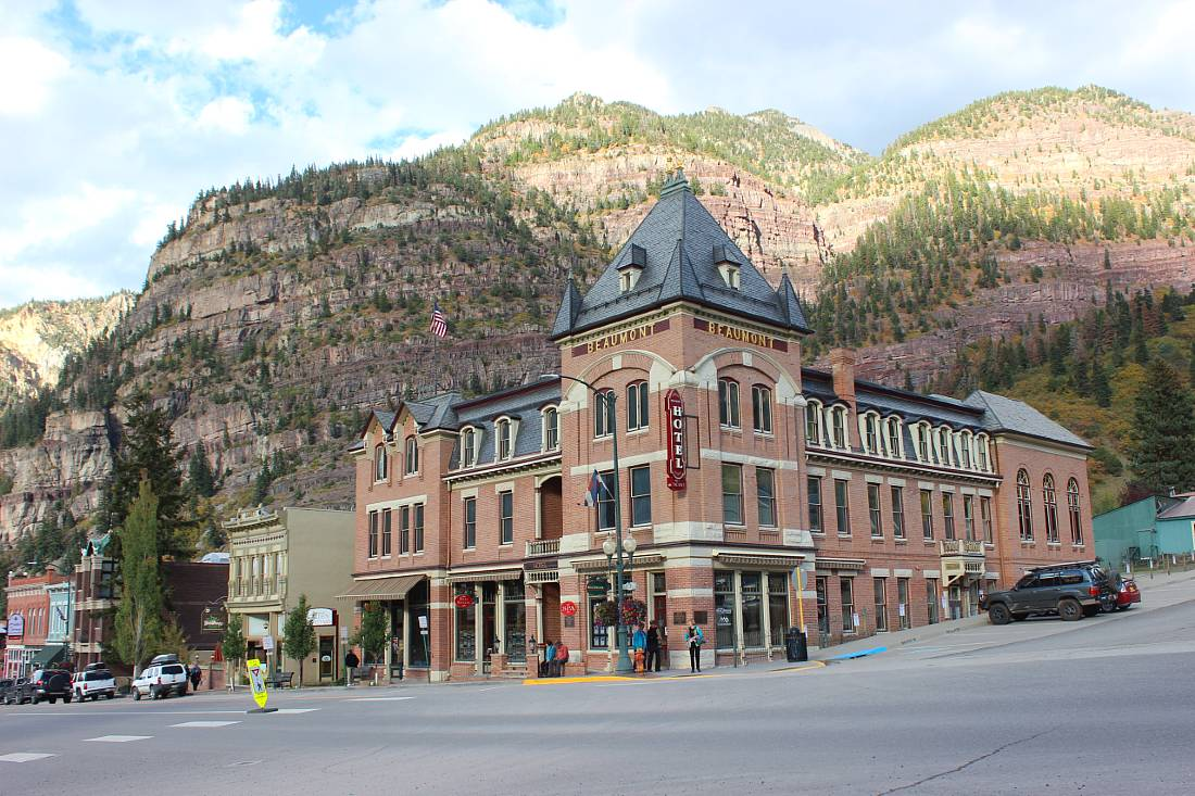 Downtown Ouray, one of the best mountain towns in Colorado