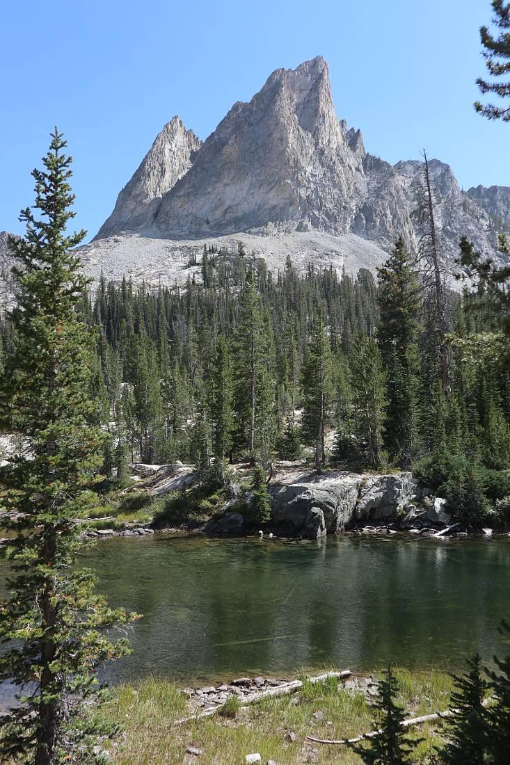 Alice Lake Idaho with El Capitan peak