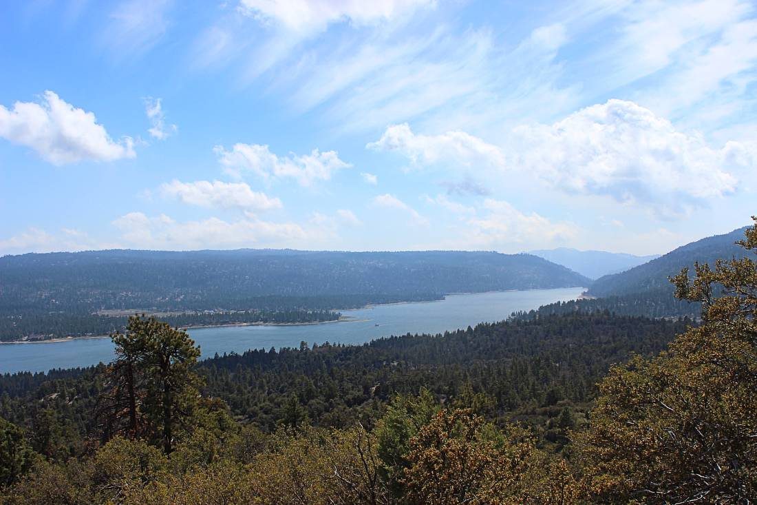 Big Bear Lake from trail
