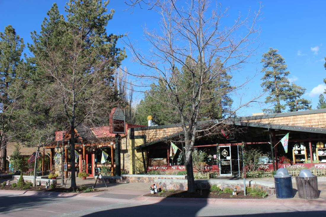 Big Bear Village in summer