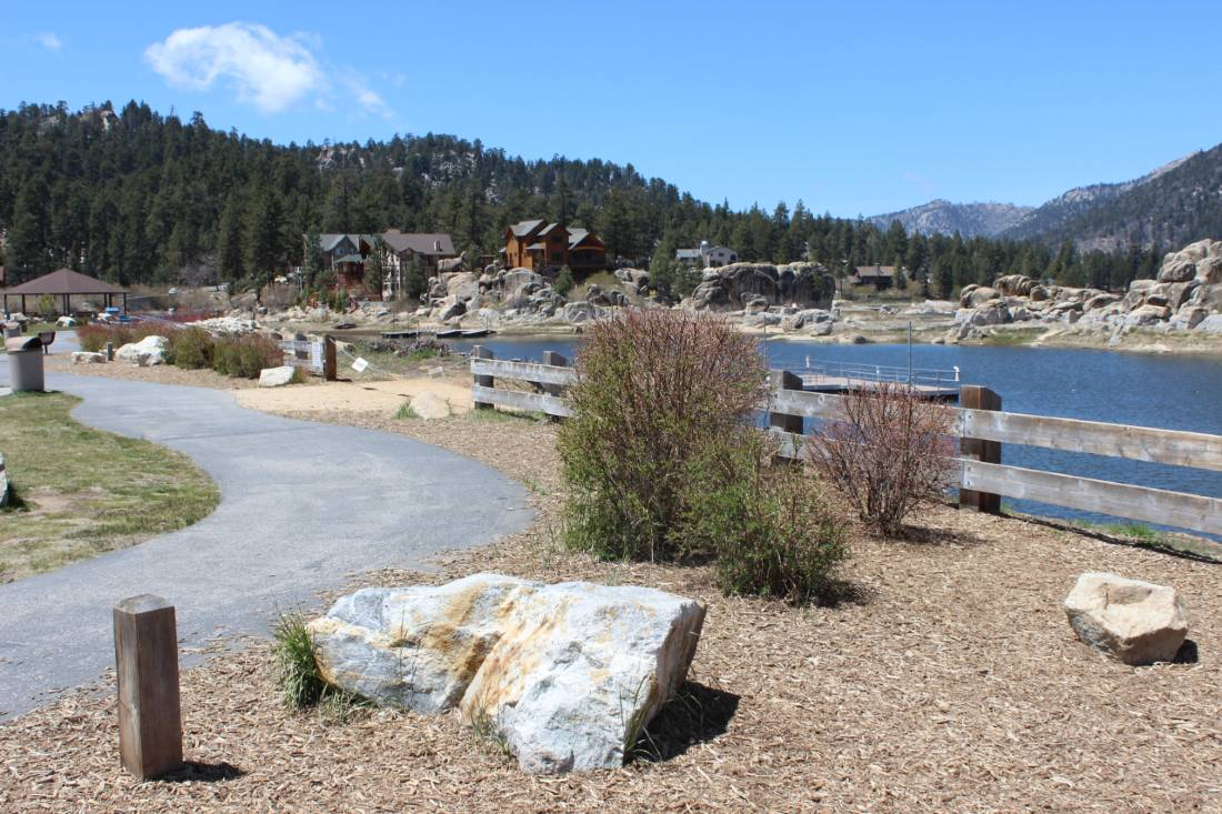 Boulder Bay Park in Big Bear Lake in the Summer