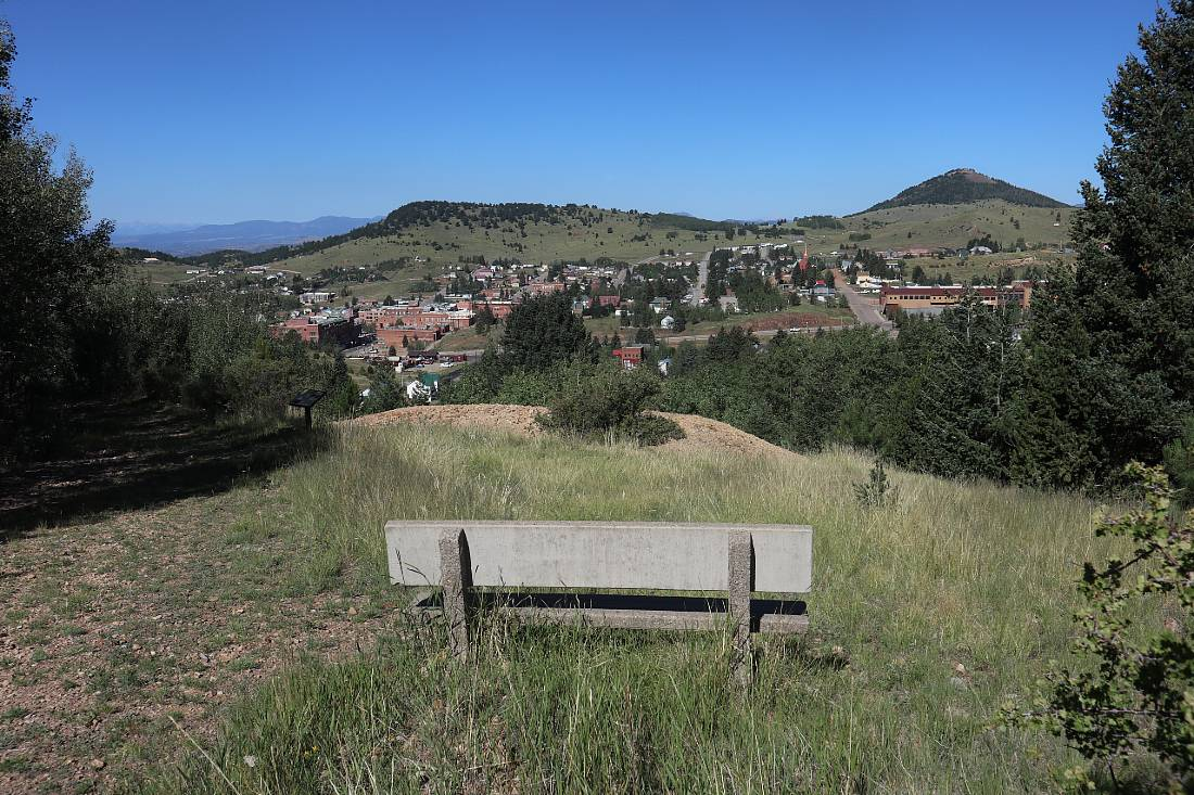 View over Cripple Creek - one of the top hidden gems of Colorado