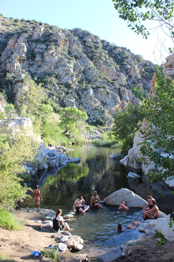 Deep Creek Hot Springs is a great day trip from Big Bear Lake in summer