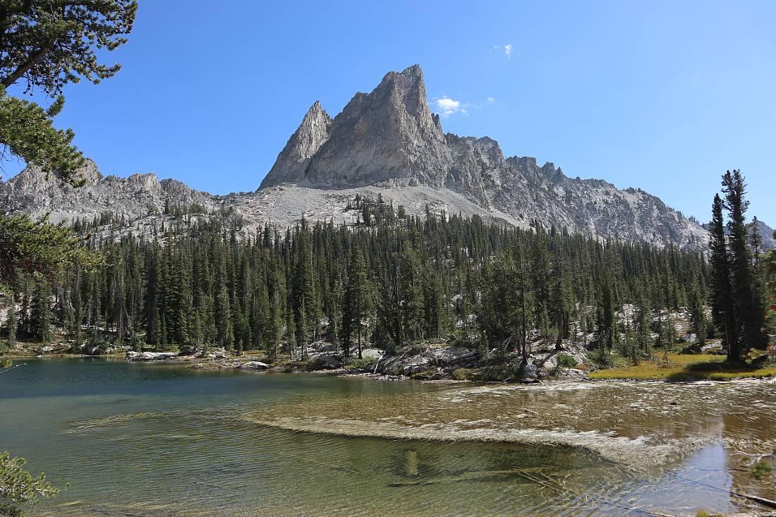 El Capitan peak over Alice Lake Idaho