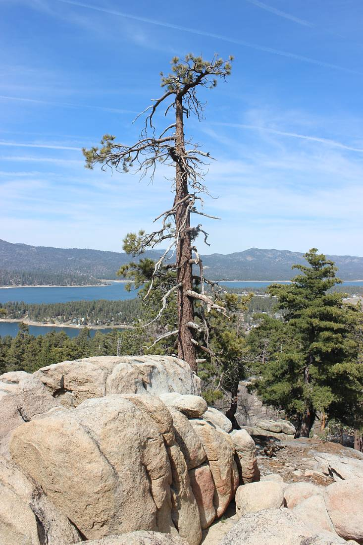 Lake views from Castle Rock during a Big Bear Summer