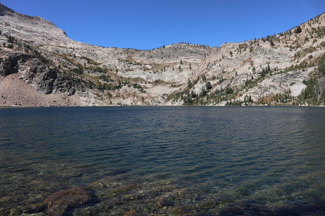 One of the Twin Lakes on the Alice Lake trail