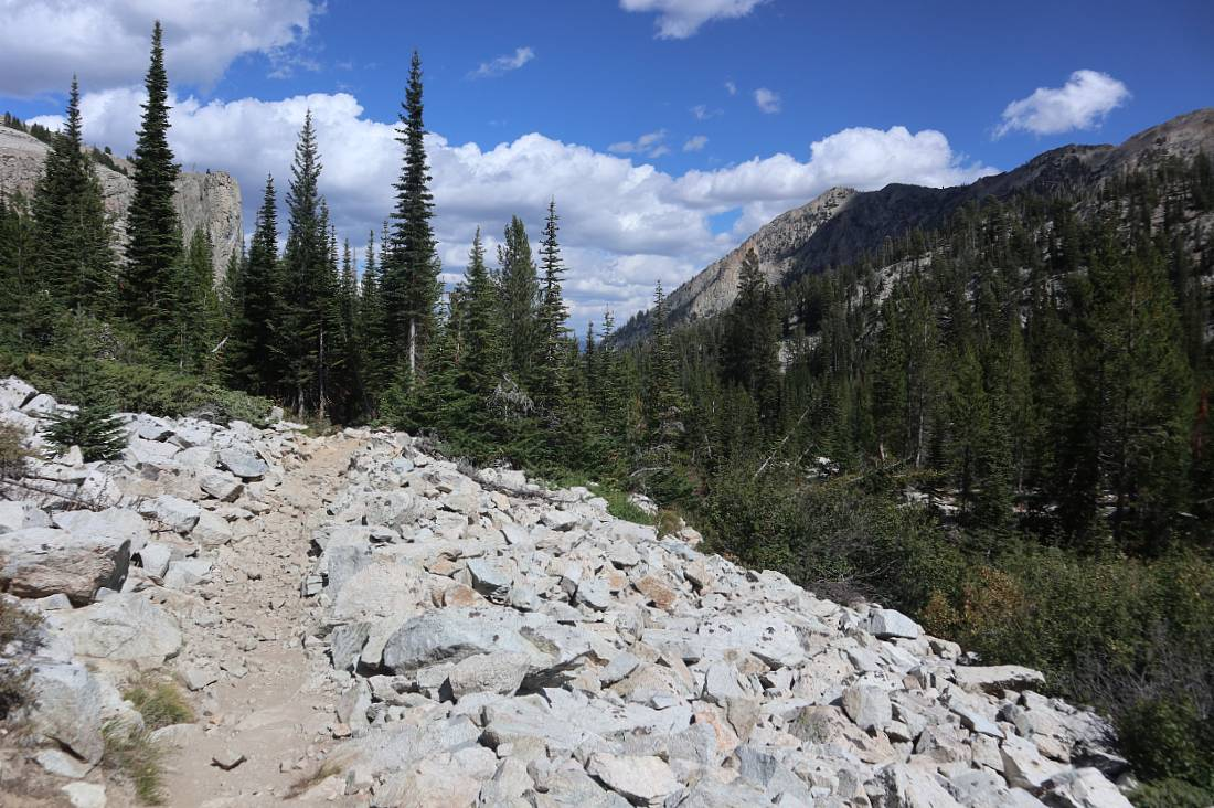 Rocky trail on the Alice Lake hike
