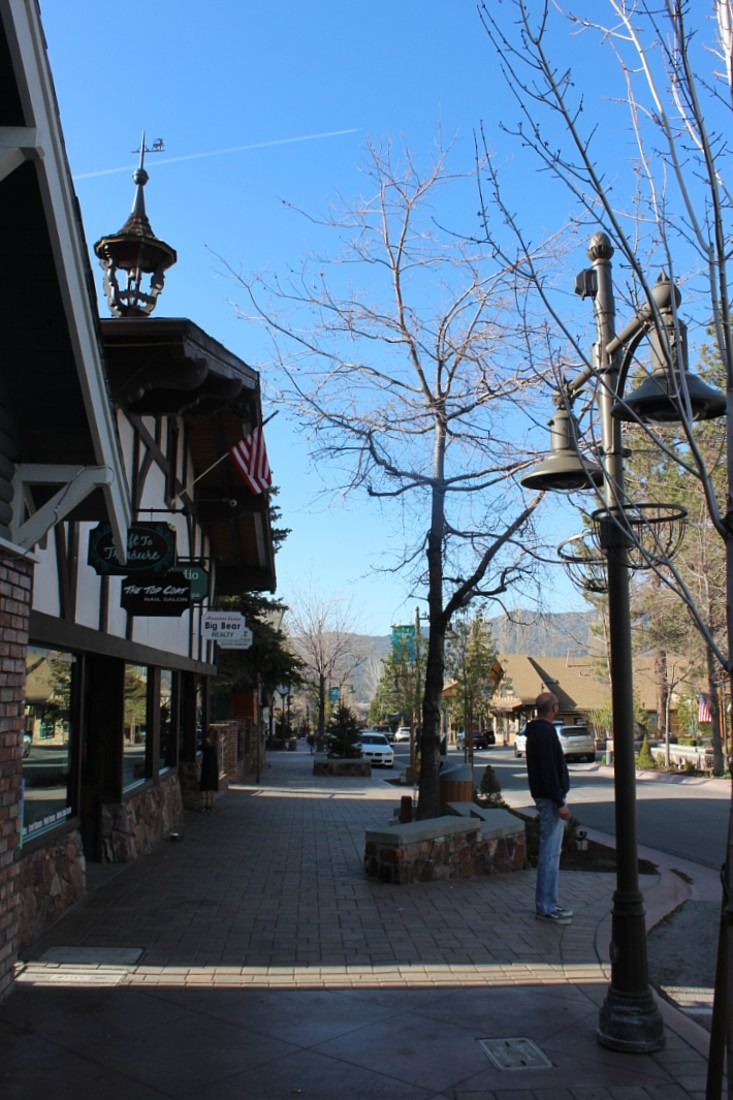 Village of Big Bear Lake in summer