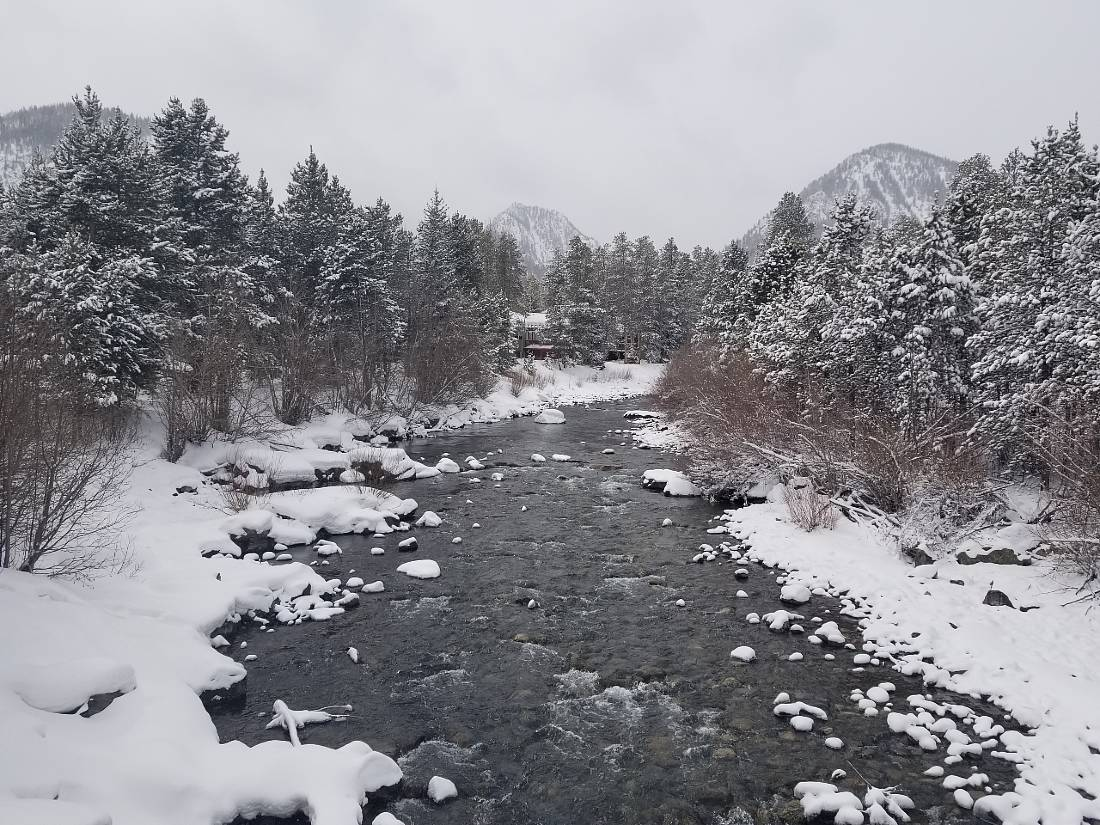 Winter river in Frisco