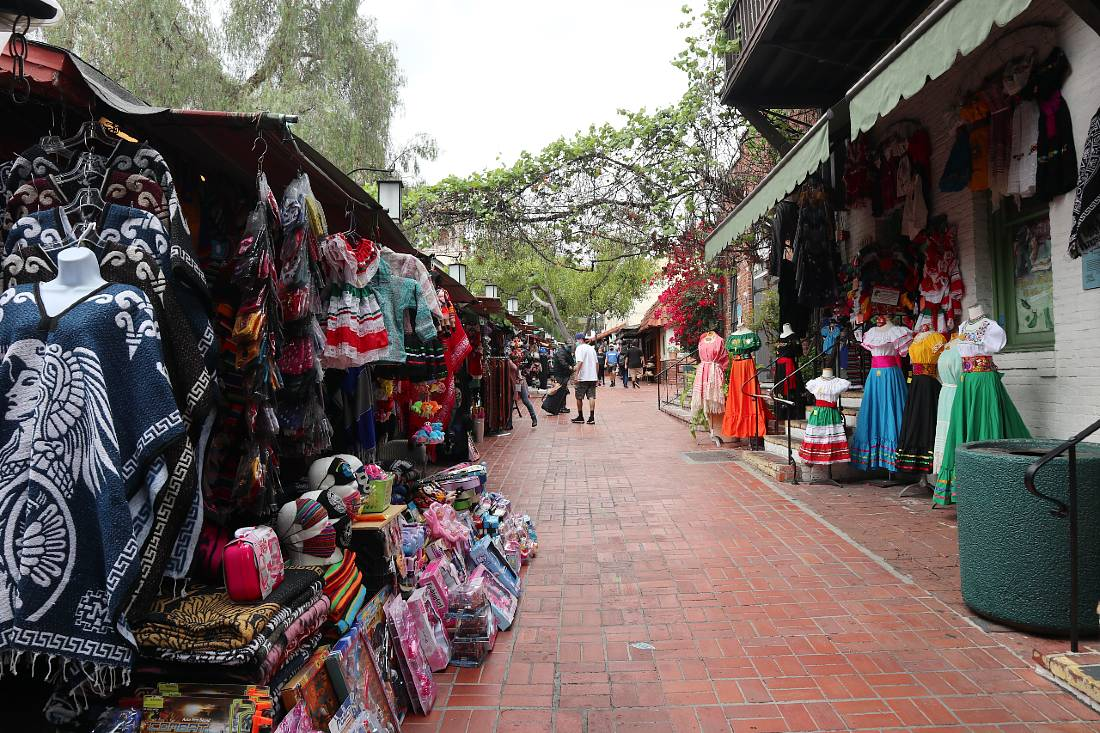Olivera Street in Old Pueblo of LA