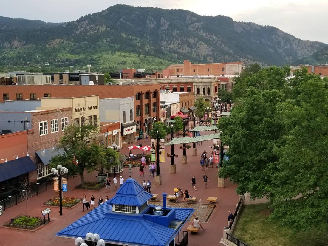 Avanti rooftop view in Boulder