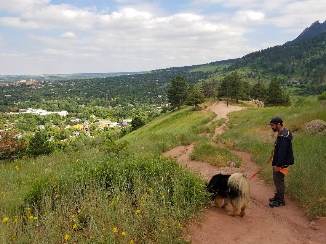 Boulder hike while housesitting