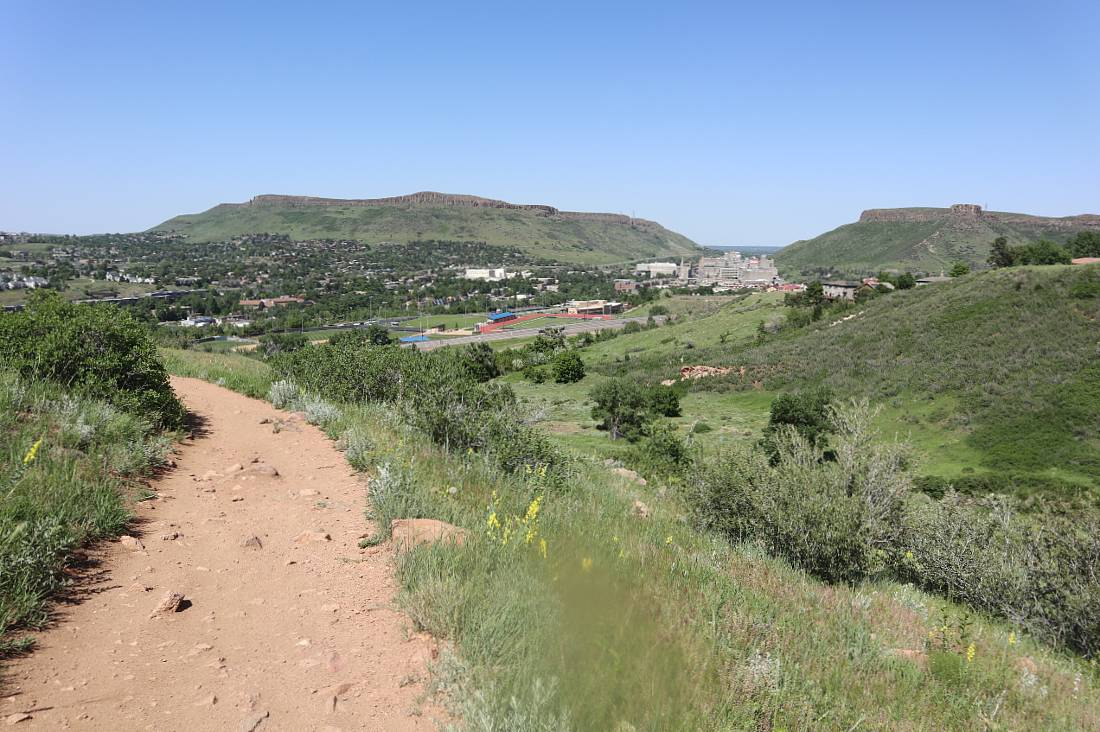 Chimney Gulch is one of the most popular Golden hiking trails