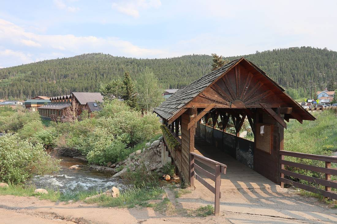 Covered Bridge in Nederland, one of the mountain towns near Denver