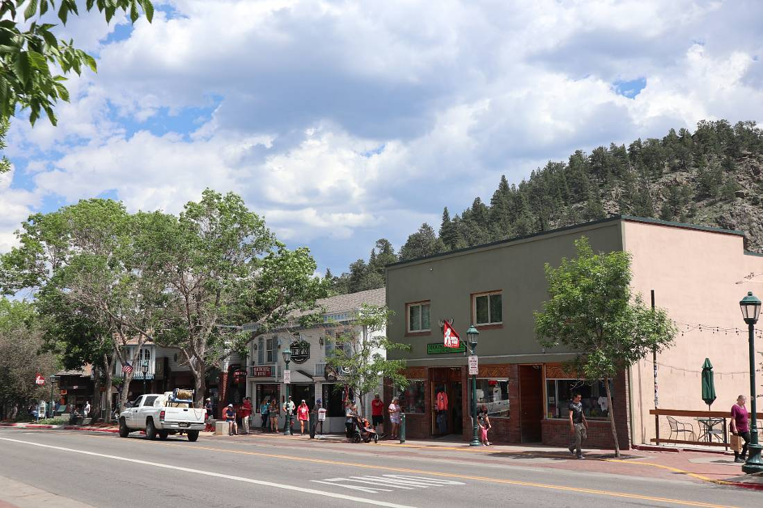 Downtown Estes Park - one of the mountain towns in Colorado