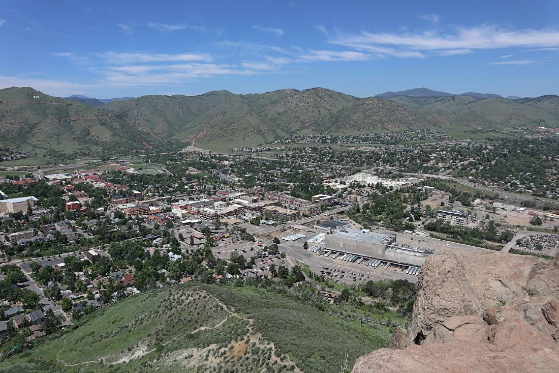 View over Golden from one of the South Mountain hikes in Golden