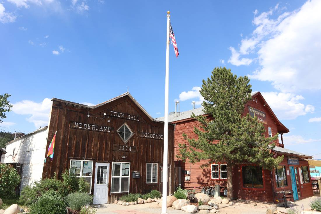 Town Hall in Nederland one of the best mountain towns near Denver